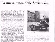 ARTICOLO 1951 AUTO SOVIET ZIM 3500 CC OFFICINE DI MOLOTOV E GORKY RUSSIA ZIS 110