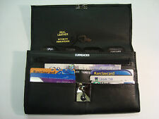 LEATHER TRAVEL Document WALLET ORGANISER with lock for Passport etc