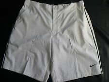 NIKE Trophy Woven Taped Tennis Shorts White Green Stripe Mens Size XXL NEW TAGS