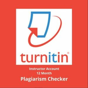 12 MONTH ACCESS TURNITIN PERSONAL INSTRUCTOR ACCOUNT