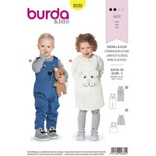 Burda 9330 Sewing Pattern Child Baby Toddler Overall Jumpsuit Dress EASY 6M-3