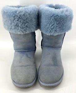 UGG Australia Classic Tall BLUE SUEDE Sheepskin 5815 Women's Boots Size 9