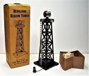 Marx Train 0446 Revolving Beacon Tower with Box