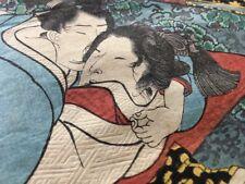 Antique SHUNGA 'ehon' Book, KUNISADA Utagawa Toyokuni III, woodblock cut prints