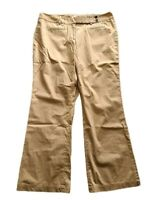 "Ann Taylor LOFT Women's Size 14 Camel Color ""Marisa"" Pants Straight Leg Pockets"