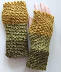 Armstulpen Handstulpen Pulswärmer Stulpen Handschuhe UNIKAT Handarbeit gehäkelt