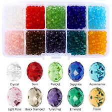 1000Pcs Crystal Spacer Glass Beads Wholesale Lot Gemstone 4mm Rondelle Faceted