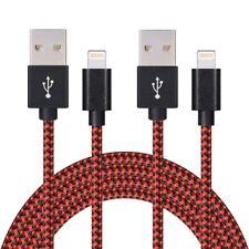 2x 2m PREMIUM Schnell Ladekabel Datenkabel für Original iPhone 6 7 8 X NEU rot