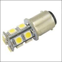 2x BA15D WHITE GLOBE - 13-LED Boat/Caravan/Auto/Anchor/Stern Light Bulb 12V-24V