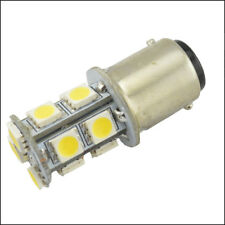 2x  BA15D WHITE GLOBE - 13-LED Boat/Caravan/Auto/Anchor/Stern Light Bulb 12V-24V