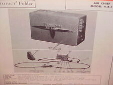 1946 1947 1948 FIRESTONE AIR CHIEF RADIO SERVICE MANUAL MODEL 4-B-1 CHEVROLET