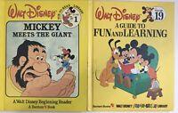 Vintage Walt Disney Fun To Read Library  Beginning Reader Books Bantam Lot Of 2