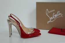 sz 7.5 / 38 Christian Louboutin Optisexy Red Patent Leather Slingback Pump Shoes
