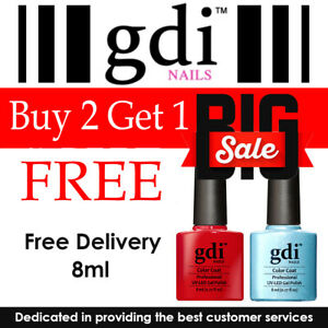 GDI Nails UV/LED Soak Off Gel Nail Polish Buy 2 Get 1 FREE