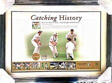Catching History- Mark Waugh Hand Signed Memorabilia Comes with COA and Framed