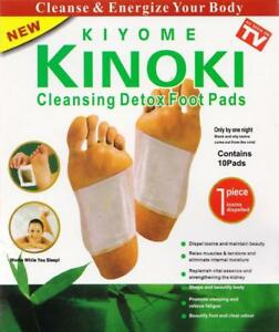 Kinoki Foot Treat Patches 10 Pads Toxins Kiyome Detox Cleansing Remover adhesive