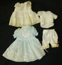 small complete outfit FOR ANTIQUE DOLL, DOLL CLOTHES, DOLL DRESS & UNDERWEAR
