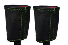Cuciture verde 2x Posteriore Cintura Di Sicurezza Pelle copre gli accoppiamenti ALFA ROMEO GIULIETTA 10-15