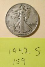 HA159H1018 - Silver Walking Liberty Half Dollar 1942 S   - Free Shipping