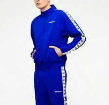 LG  adidas Originals MEN'S TNT TAPE WINDBREAKER  FZ  JACKET & PANTS  BLUE Last1