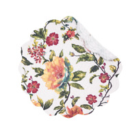 "Floral Round ""Summer"" Quilted Placemat by C&F Home - Magental, Marigold, Aqua"