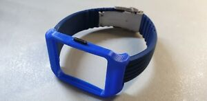 Sony SmartWatch 3 SWR50 Blue Adapter & Blue Silicone Strap with Clasp