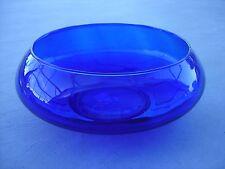 Crisa Cobalt Blue Bowl Centerpiece Decorative Glass Bowl
