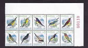 Philippines BIRDS 2019 A,  7 pesos Lovely Sunbird in Block/10 with Plate# NH