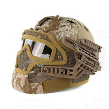 Tactical Protective Googles G4 System Full Face Mask Helmet Molle Paintball AOR1
