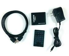 Mini 1080p Full-HD Digital Media Player HDMI USB SD W/Remote Tested Working