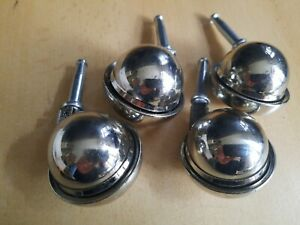 4 x Kenrick Shepherd Alloy Rotating Swivel Ball Furniture Casters Wheels