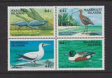 Marshall Islands - 1988, Shore & Water Birds set - Block of 4 - MNH - SG 143/6