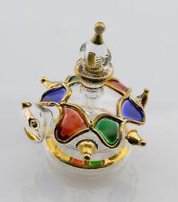 Fiole Flacon à parfum Tortue en verre soufflé Artisanat Egypte 3920 CA8