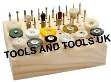 Soporte de madera sostenedor del estante Organizador Para Dremel De Corte Burr bits 1/8 de pulgada caña