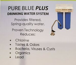 DuPure Blue Plus Drinking Water Filtration/Purification System-NEW With Filters