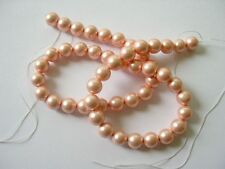 South sea shell pearl pink round beads10mm. High luster. Full strand