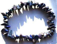 Genuine Lapis Lazuli Psychic Crystal Bracelet, Reiki Blessed in Lavender Bag