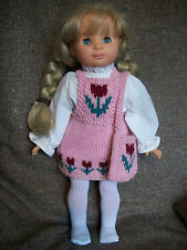 "18"" Doll Knitting Pattern will fit American Girl Tulip Jumper and Tote"