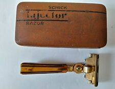 NICE Vintage Schick Injector Safety Razor w/ Bakelite Handle in Case 1942