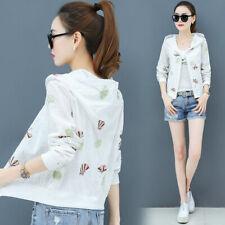 Summer Women's Sun Protection Hoodies Jacket Coat  Casual Thin Outwear'