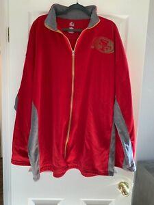 San Francisco 49ers Mens Jacket Size 4XL Red - EUC