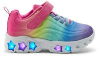 GIRLS SNEAKERS TENNIS LIGHT UP SHOES RAINBOW STAR FASHION SIZE 10 Y NEW W TAGS