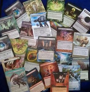 Hand Painted Custom Altered Magic the Gathering MTG Trading Cards (Red) Part 5