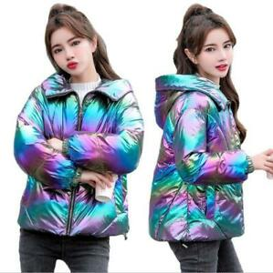 Bright Fabric Colorful Women's Down Cotton Jacket 2021 Winter Short Bread Jacket