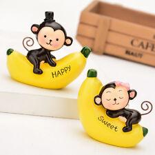 LK_ 1Pair Banana Monkey Car Home Decor Couple Gift Valentine's Day Surprise _GG
