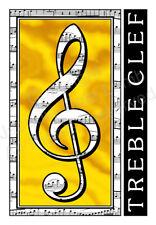 JCL Beautiful original stunning Treble Clef music note v3 card art birthday gift