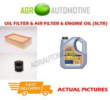 Aceite De Gasolina Filtro De Aire Kit + ll 5W30 Aceite Para Renault Modus 1.2 101 BHP 2007-13
