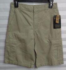 "American Hawk Khaki Cargo Shorts Boys Size 16  (Waist 28"") (u)"
