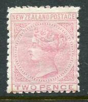 NEW ZEALAND....  1874 QV   2d rose   mint