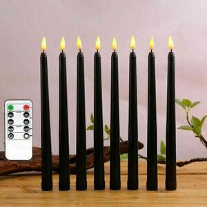 6er Set LED Optik-Wachs Kerzen flammenlose elektrische Stabkerze Tafelkerze 28CM